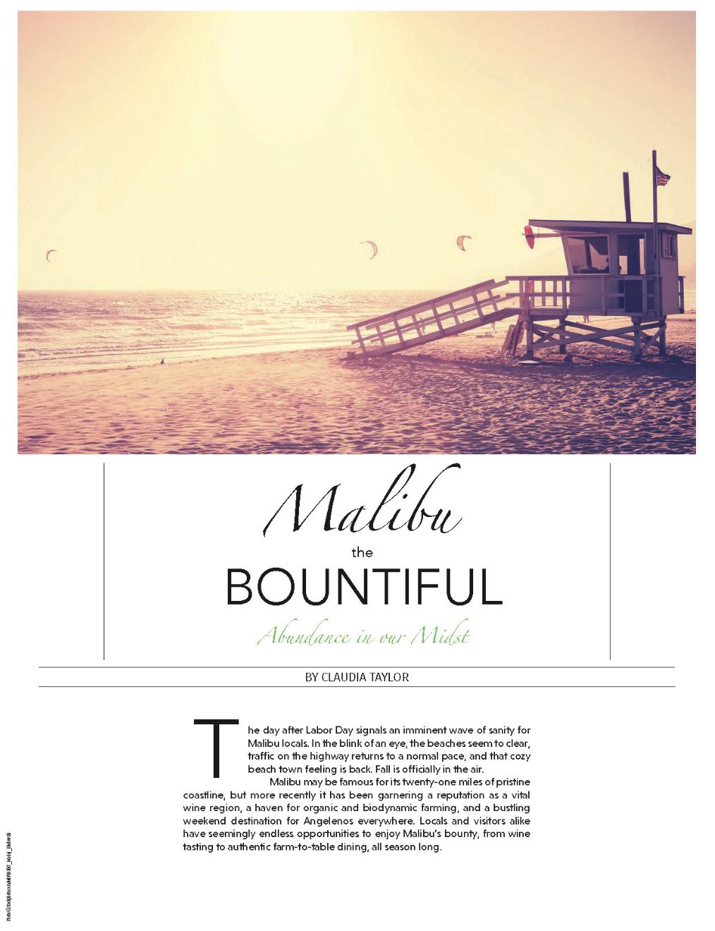 MALIBU THE BOUNTIFUL - EDIBLE LA