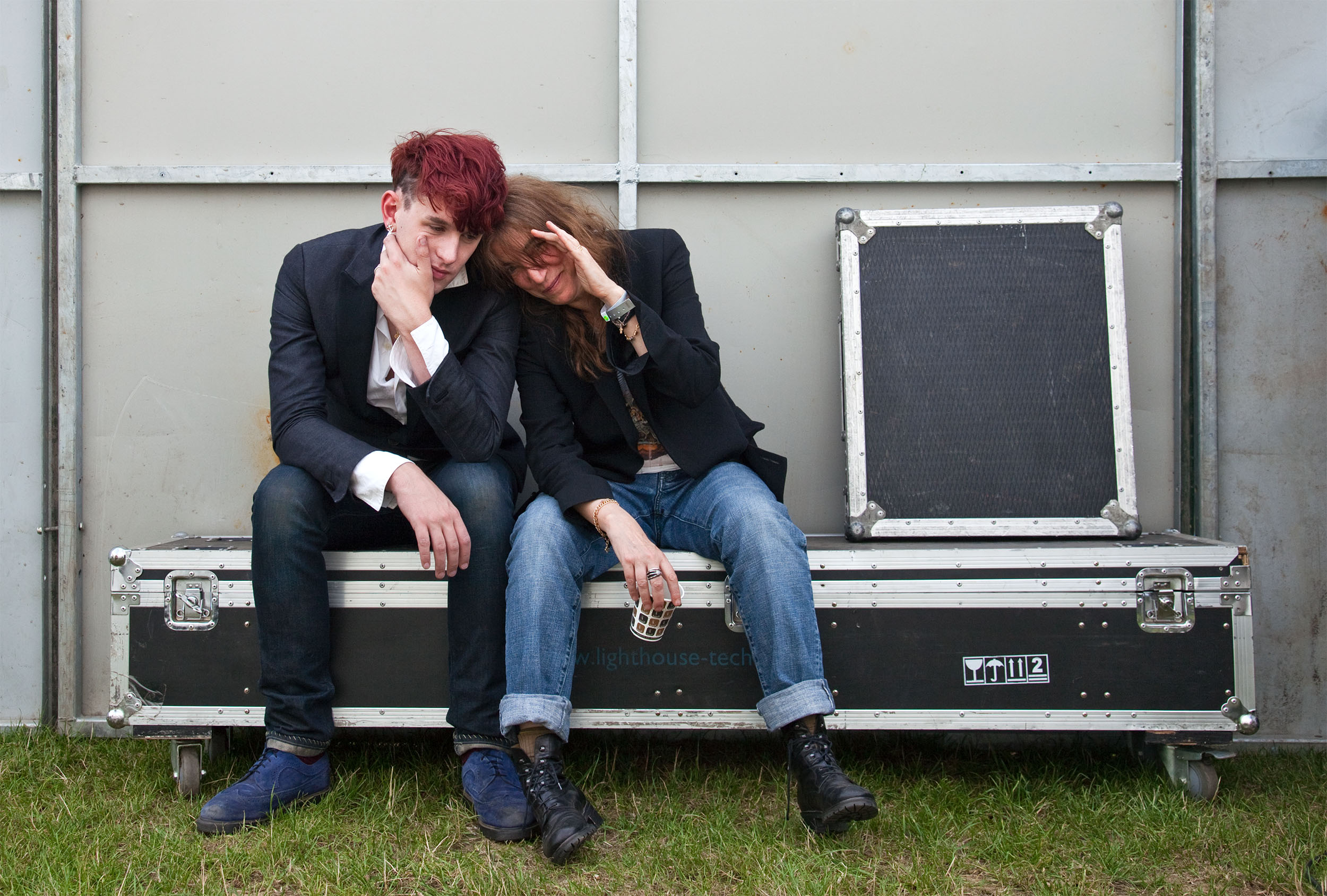 Patti Smith and Patrick Wolf
