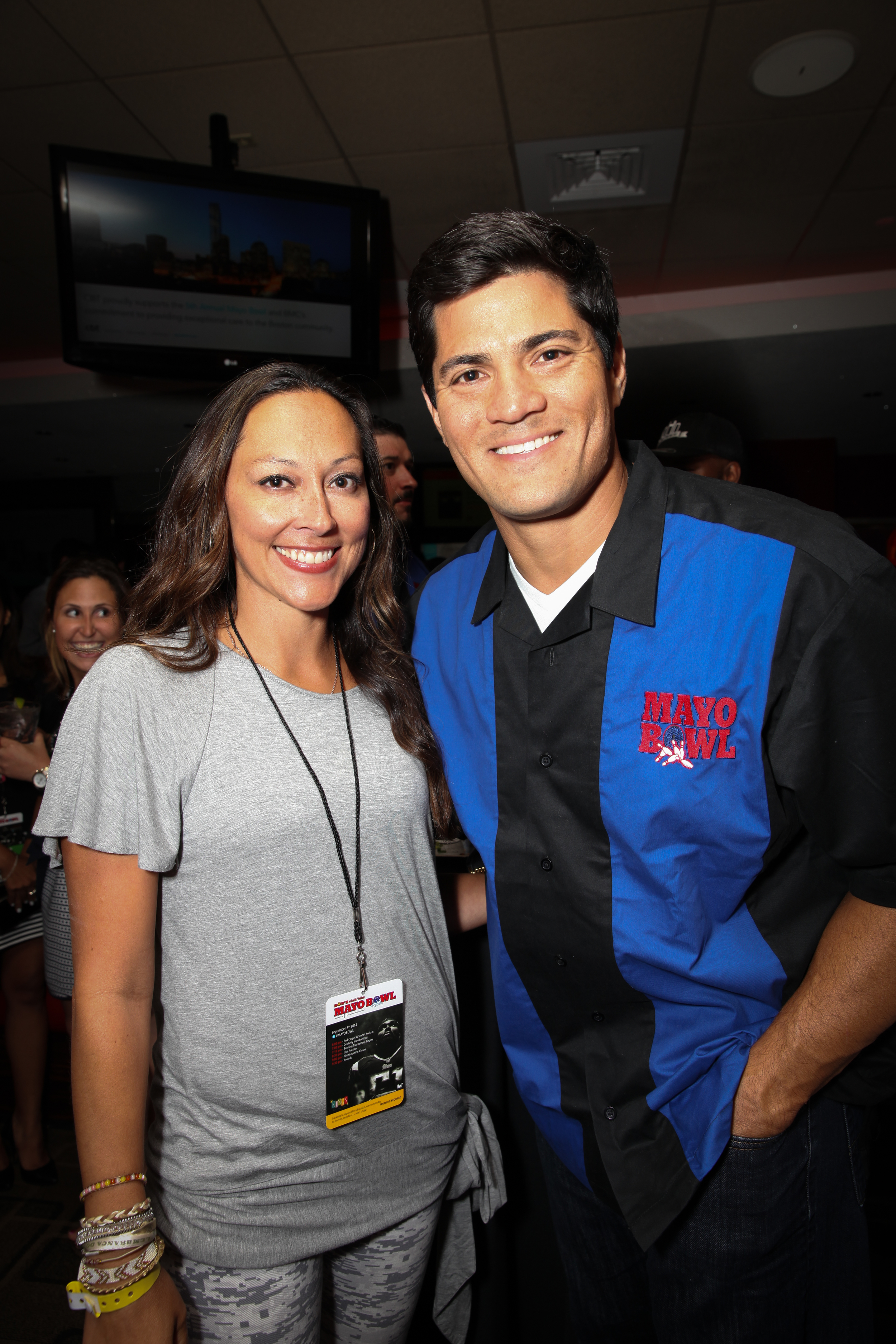 Jessica with her favorite, Tedy Bruschi