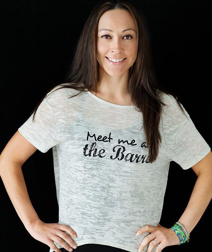 My very first Barre photo, in this shirt designed by Samya.