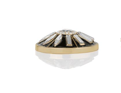 Bauble Bar Gold and Black Cap accessory, $49