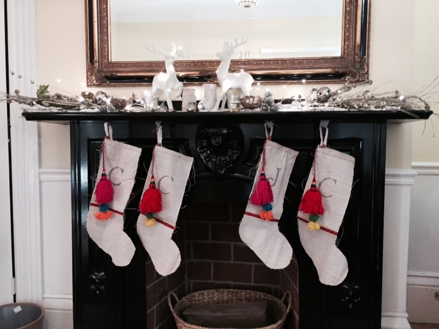 """Holiday Stocking Made From Vintage European Grain Sacks, Made by """"Moi"""""""