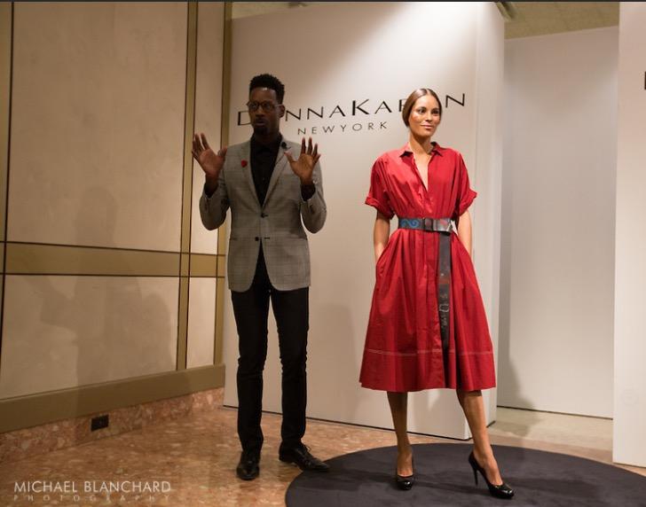 Donna Karan cotton dress  with leather belt