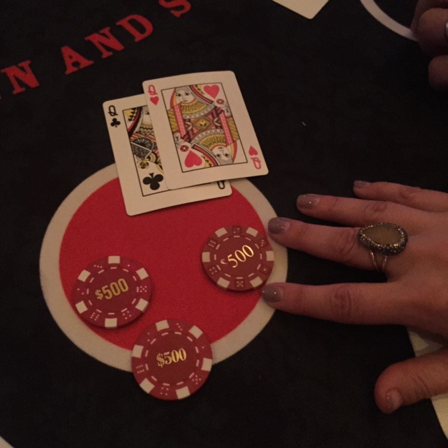 Yes, we gambled. Jessica's beginner's luck!
