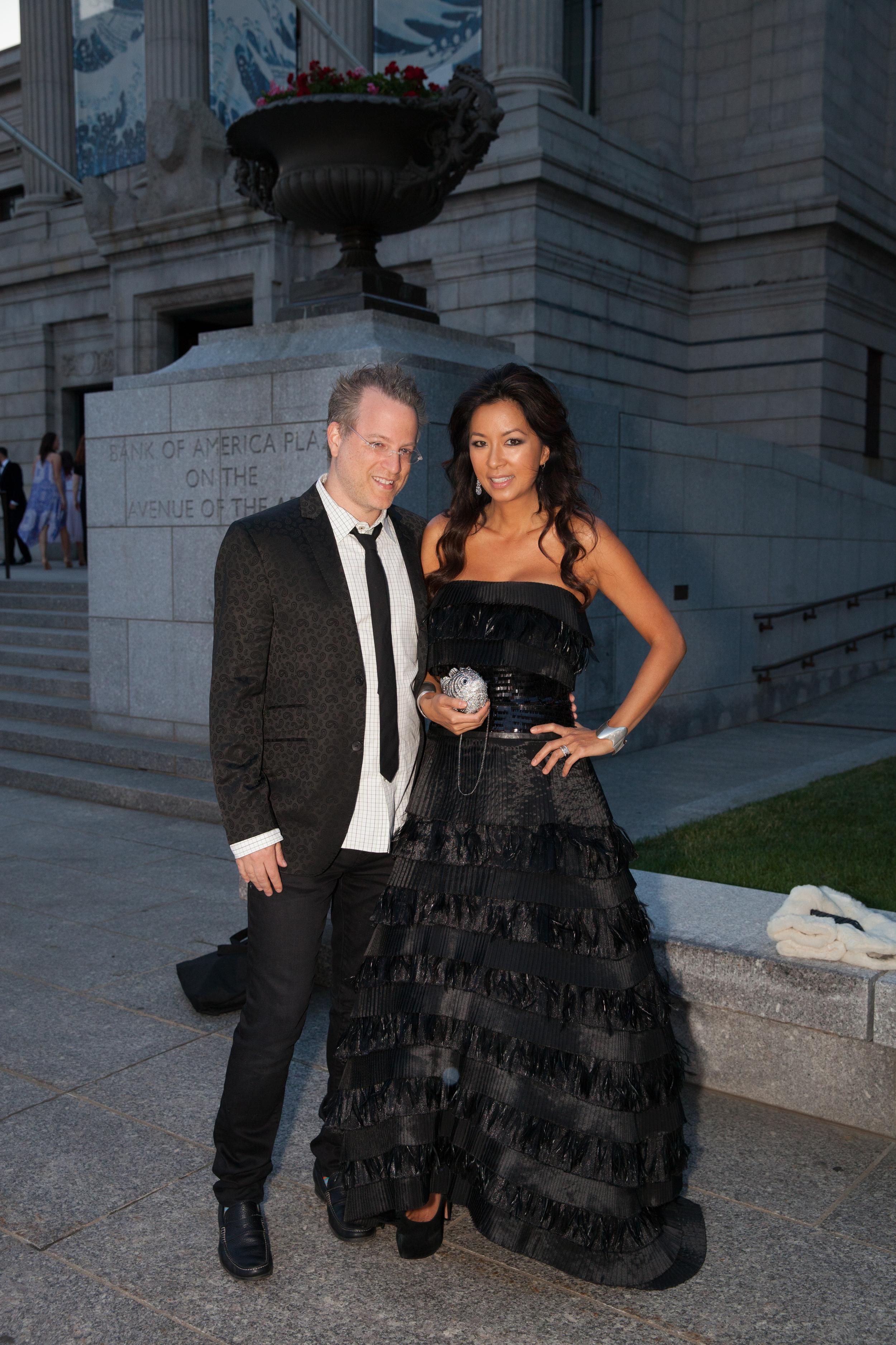 Ben and Tonya Mezrich~ On Tonya, Michael De Paulo Gown.