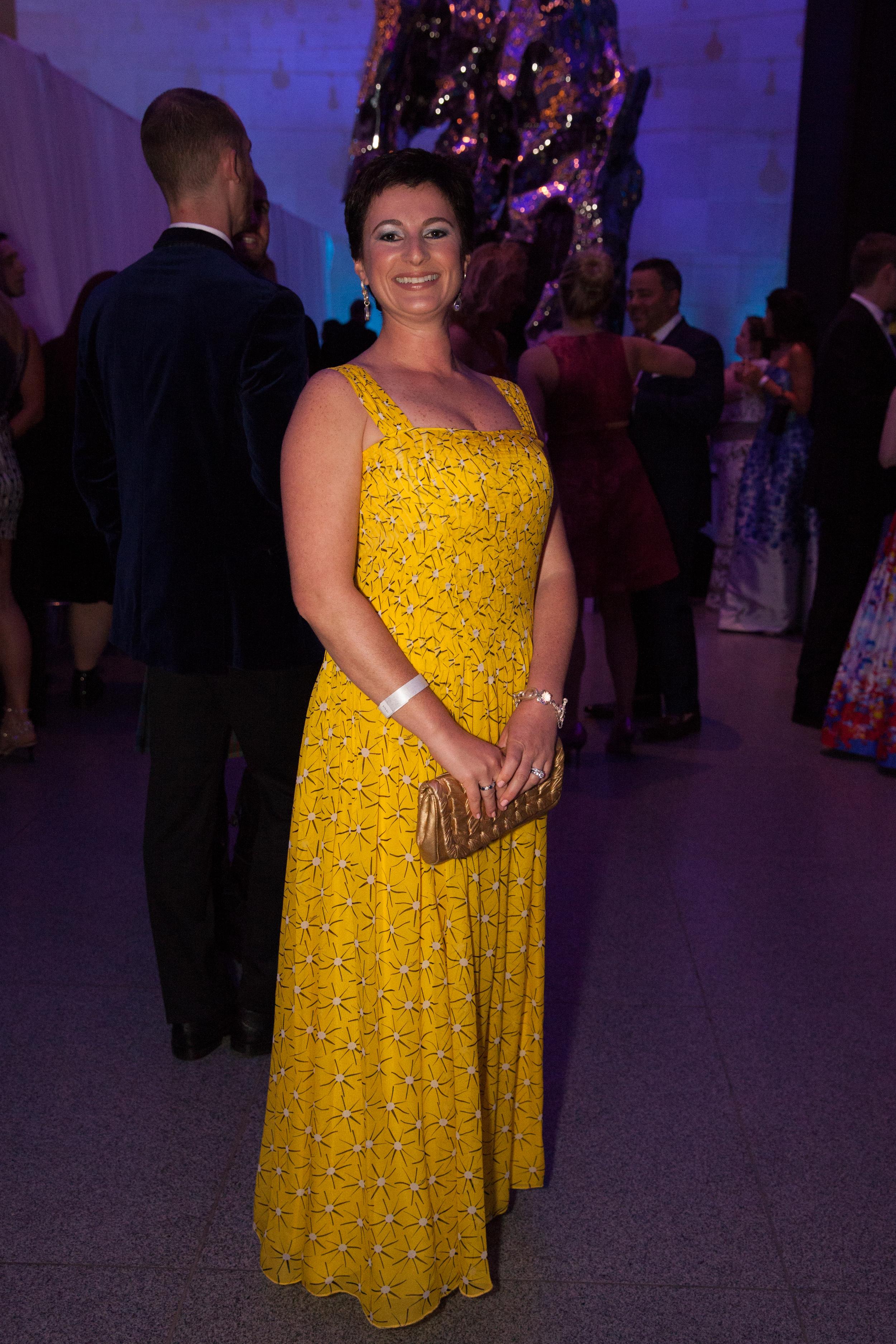 Marsha MacLean~ Diane von Furstenberg gown, Stephen Dwek jewelery.