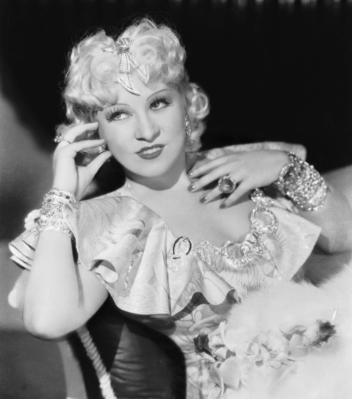 circa 1936~ The original Hollywood sex symbol, Mae West
