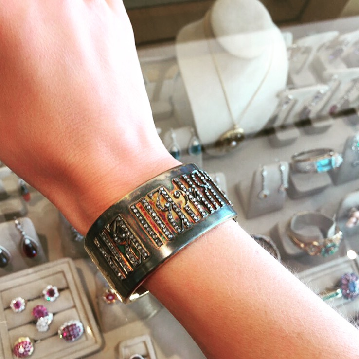 One of my favorite pieces in the shop, a vintage Russian bracelet