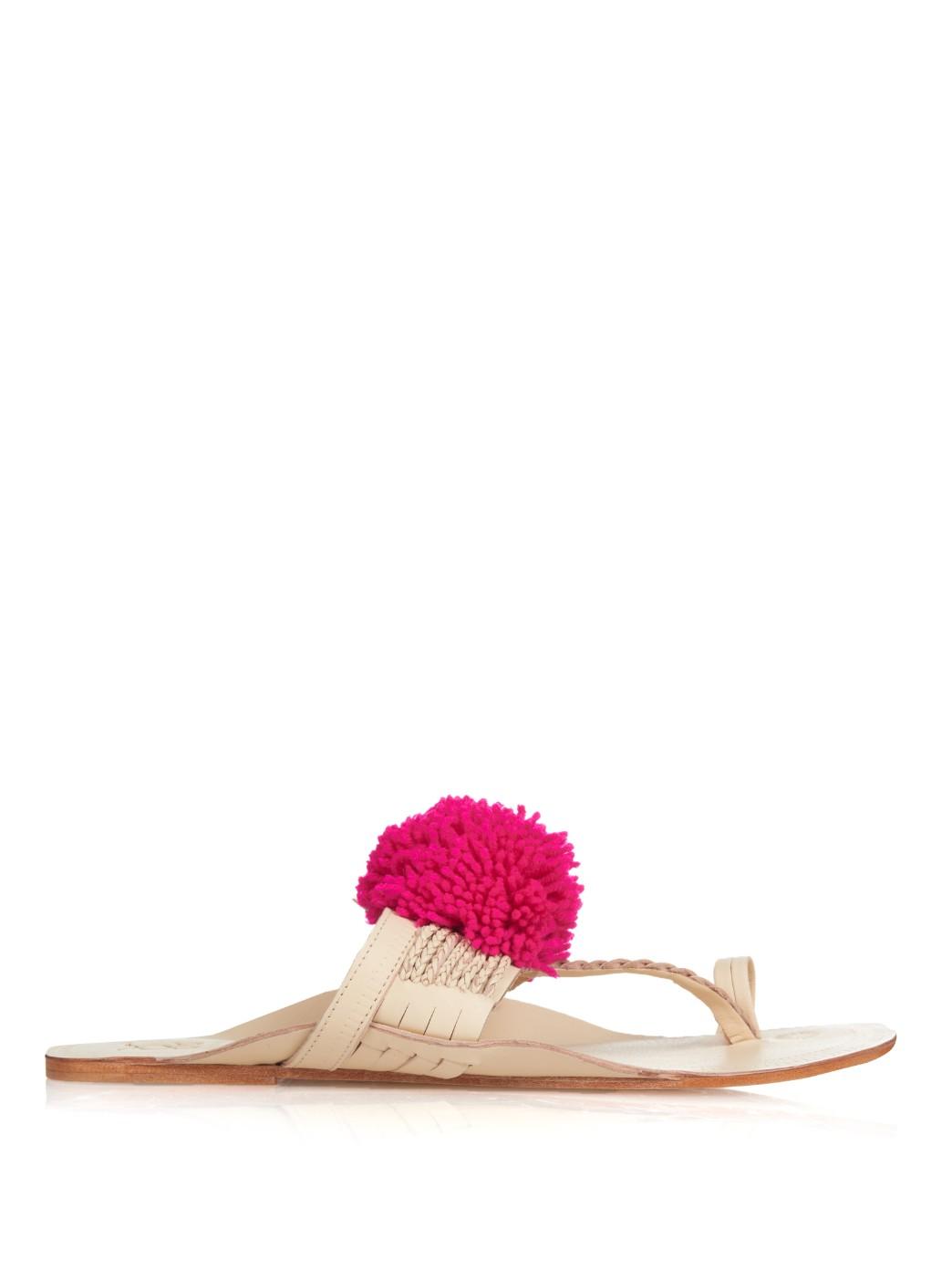 FIGUE Chappal Pom Pom Sandals