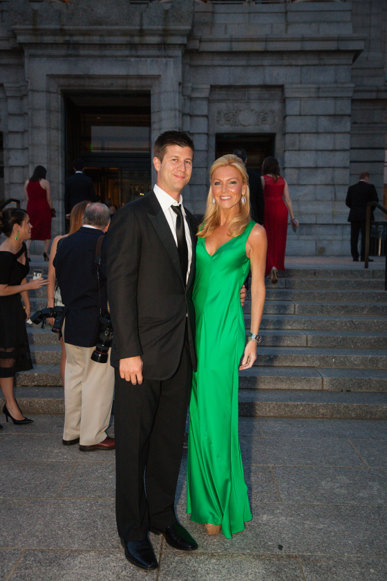 Paul and Ashley Bernon~ On Ashley, Parosh gown from Alan Bilzarian. Heels, Christian Louboutin.