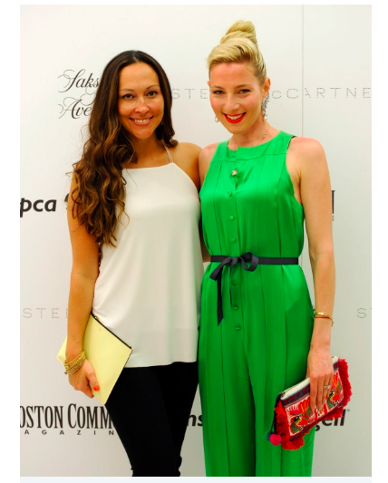 Stella McCartney  Fashion Show at Saks Fifth Avenue, Boston.Jessica Diaz, left, and Alisa Kapinos are seen during a Massachusetts Society for the Prevention of Cruelty to Animals (MSPCA) cocktails with Stella McCartney at Saks Fifth Avenue in Boston on Tuesday. Staff photo by Christopher Evans
