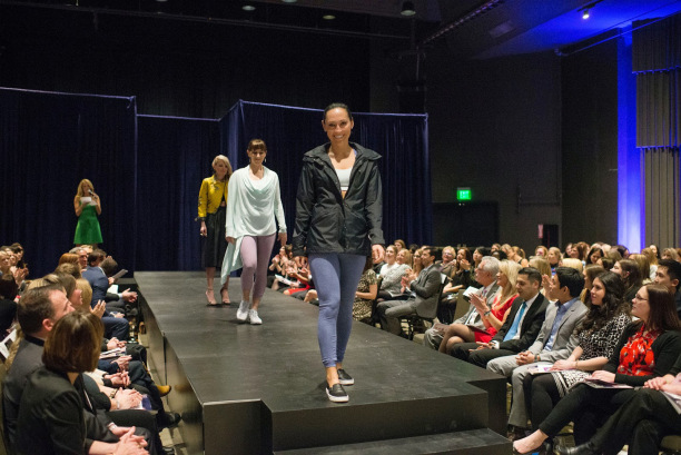 Jessica modeling in the show