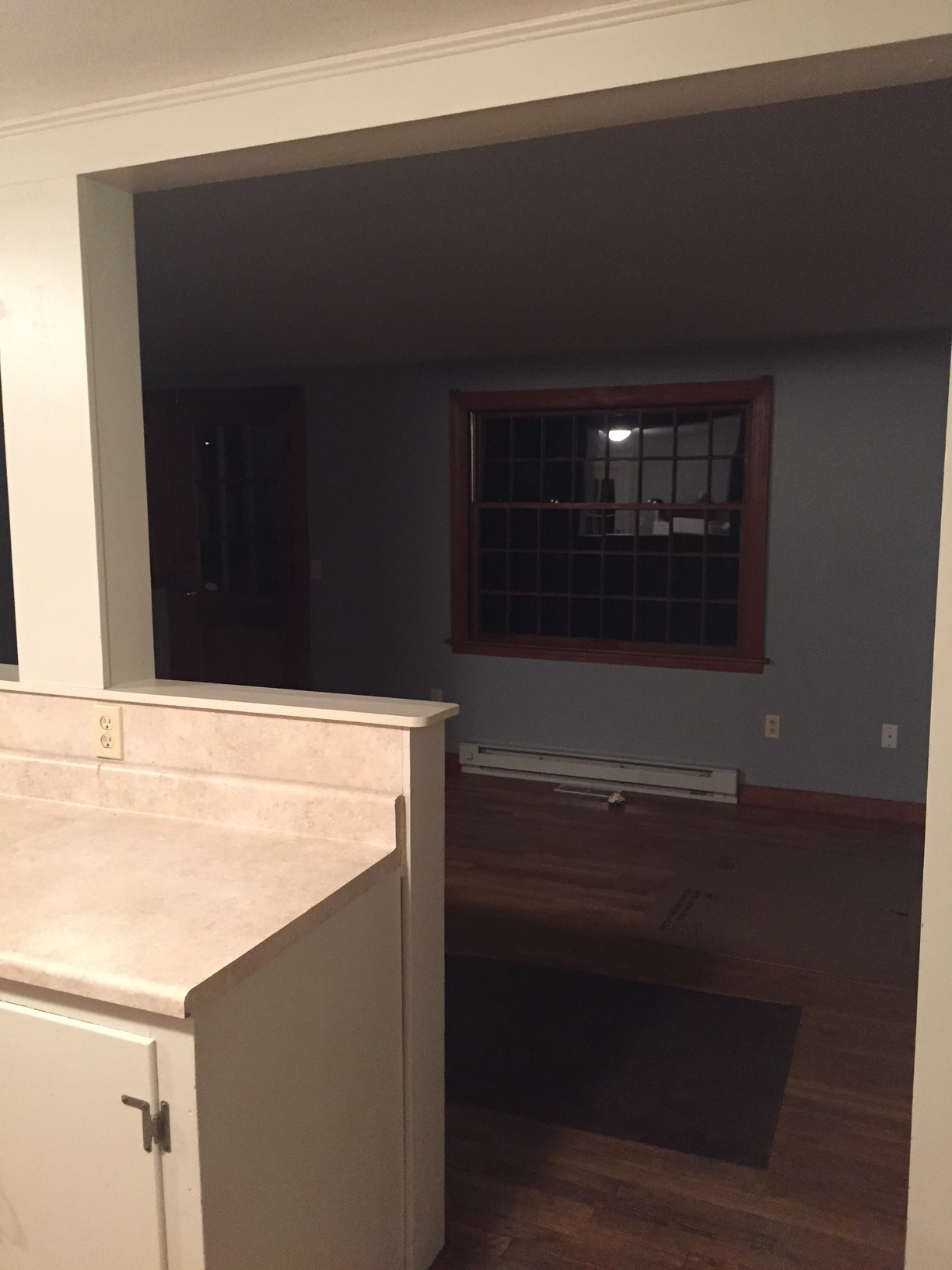 Looking into family room from kitchen