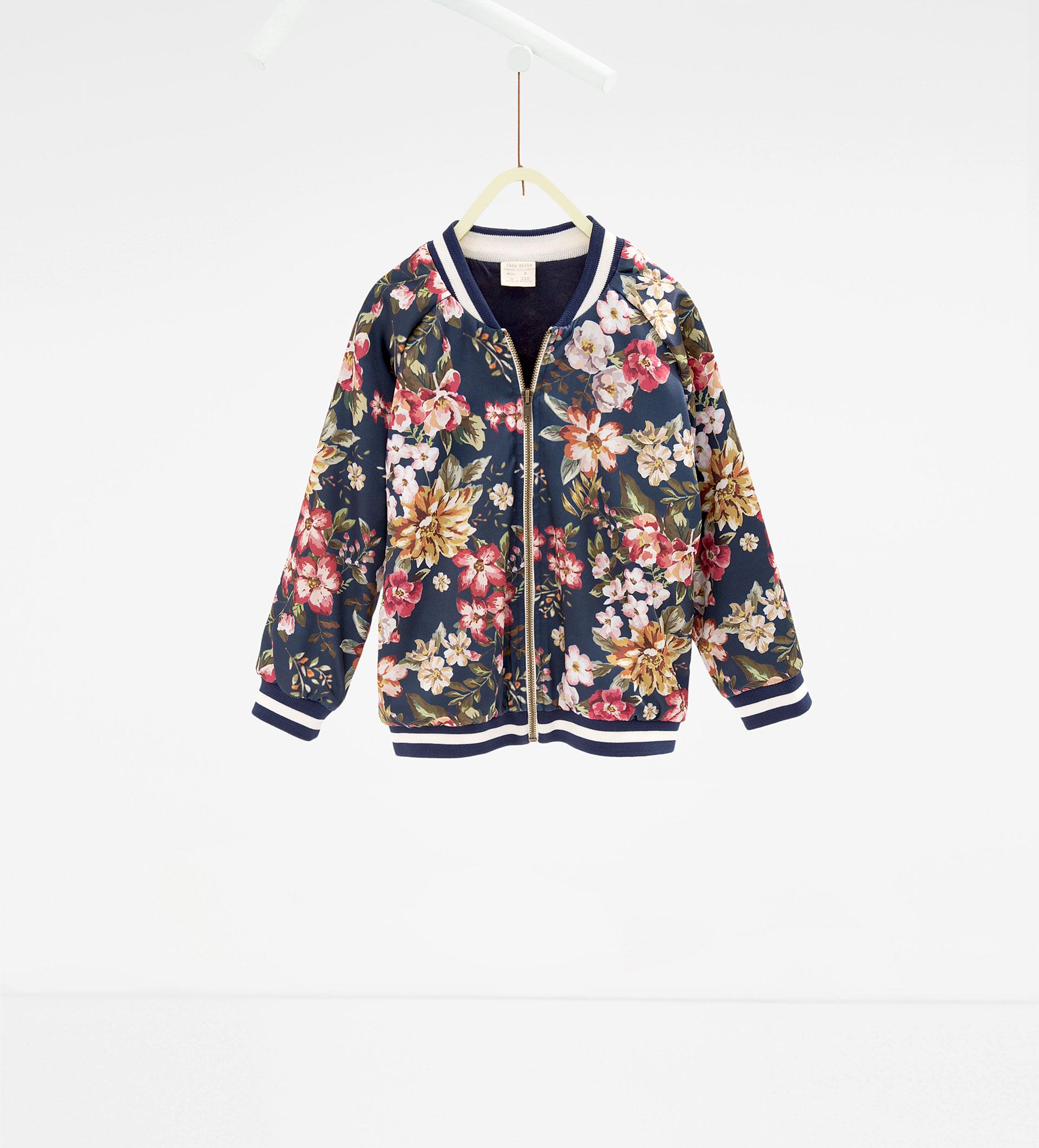 Zara Floral Bomber Jacket