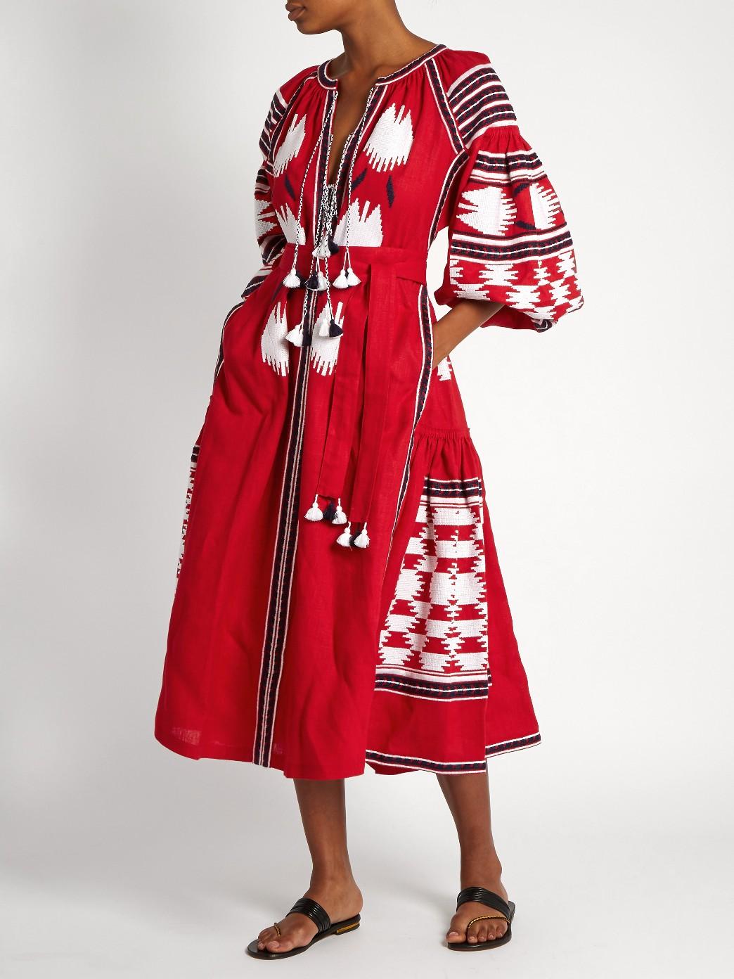 Vita Kin Bird Embroidered Dress