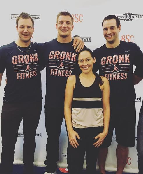 Patriots Player, Rob Gronkowski (center) and his brothers.