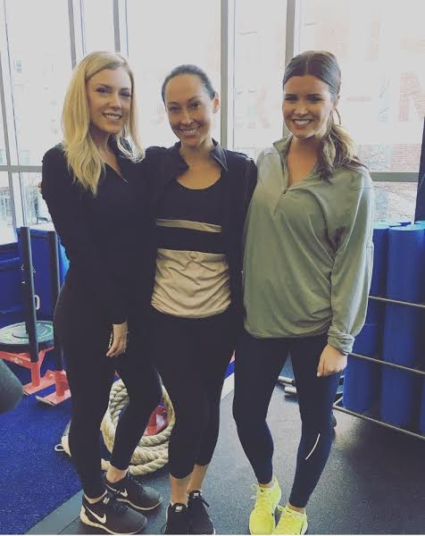 With Meredith Gorman, Boston Herald Reporter (left) and Courtney Cox, NESN Host/Reporter (right)