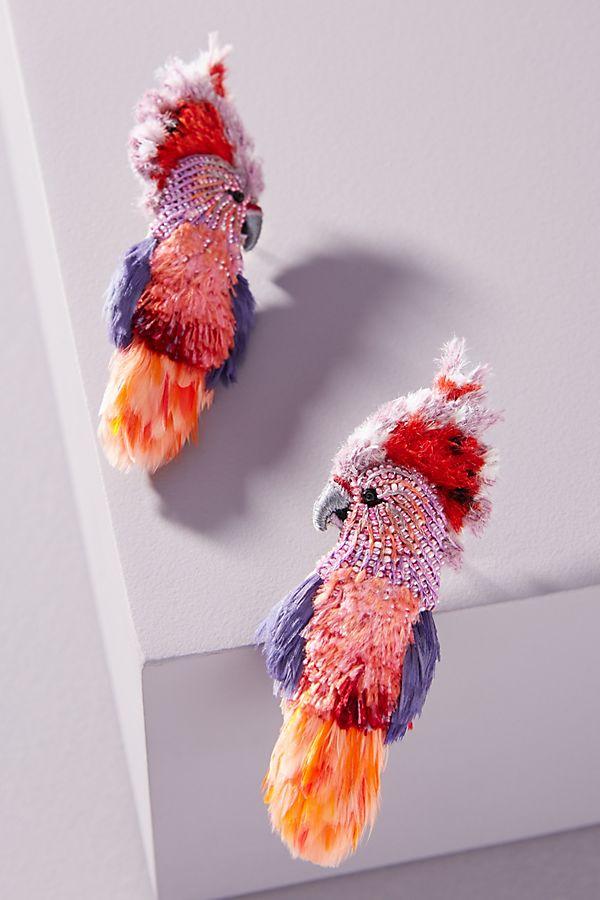 Mignonne Gavigan cockatoo earrings