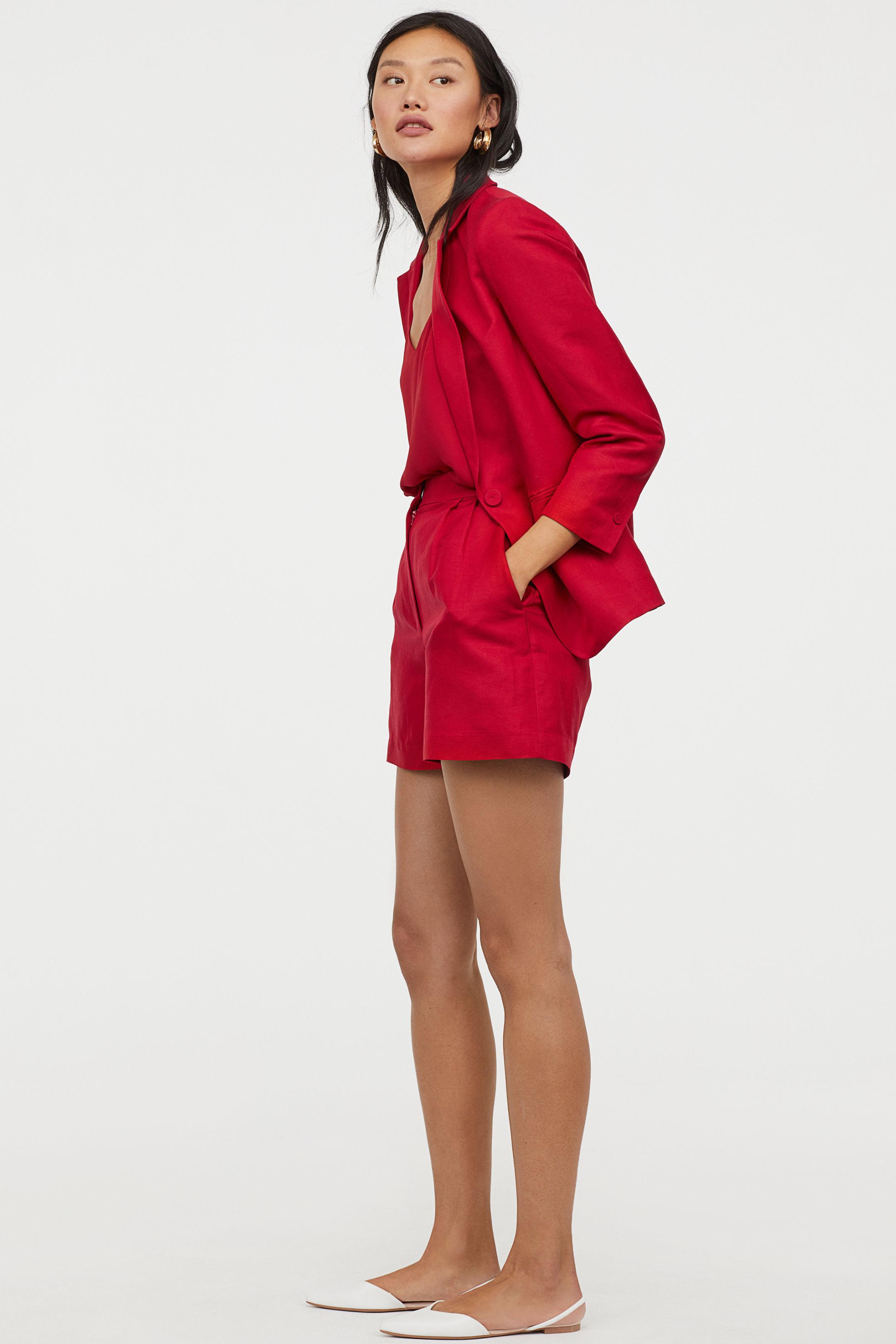 H&M linen shorts suit