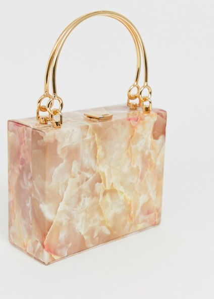 ASOS resin clutch with metal handle