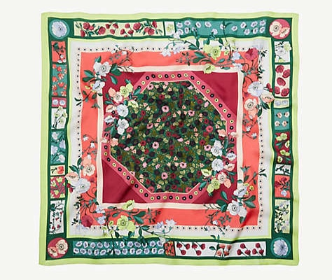 Ann Taylor floral silk scarf