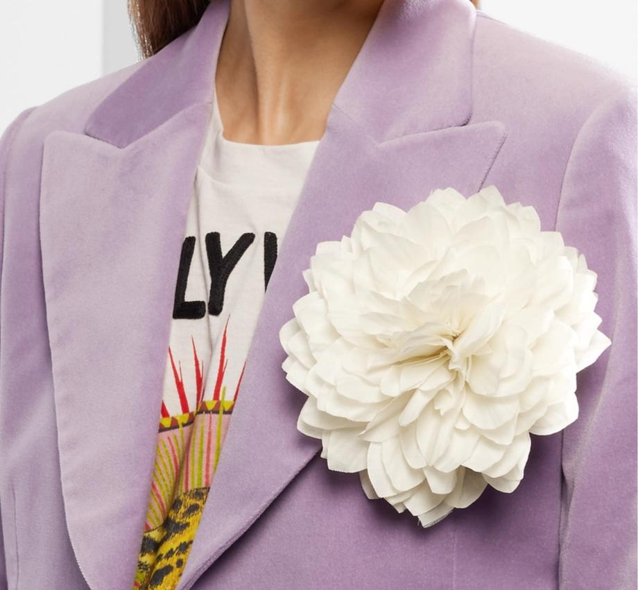 Gucci floral silk brooch