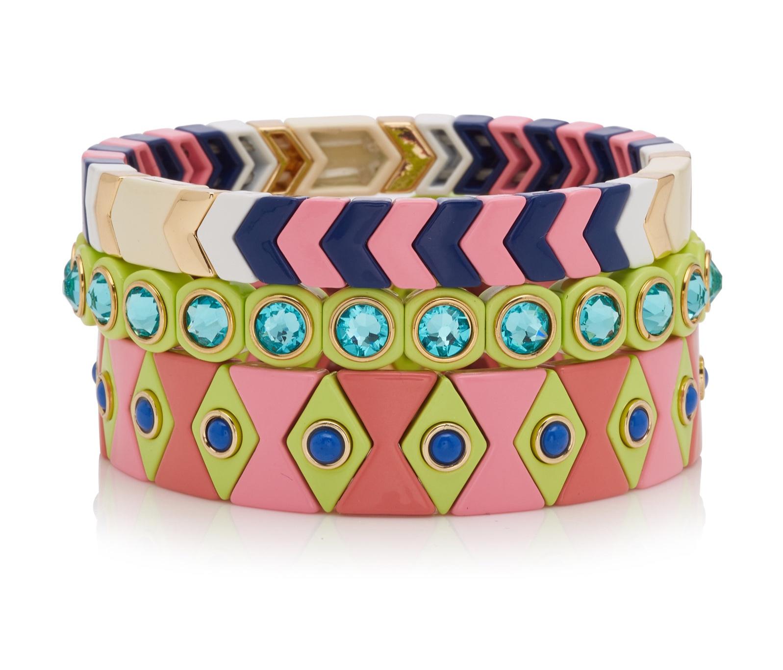 Roxanne Assouline Palm Beach enamel bracelets
