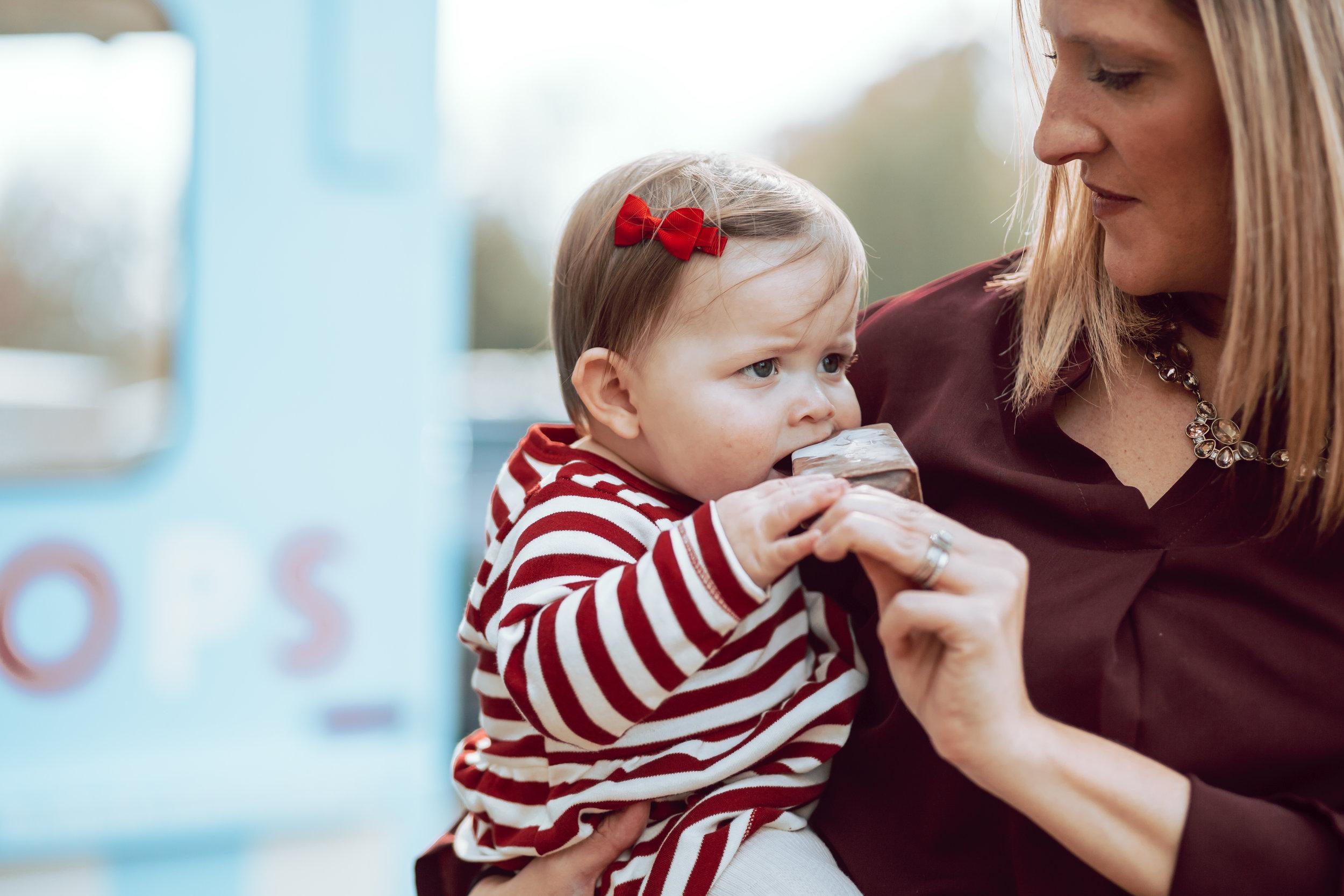 little girl tries chocolate peppermint mempop in overton park memphis