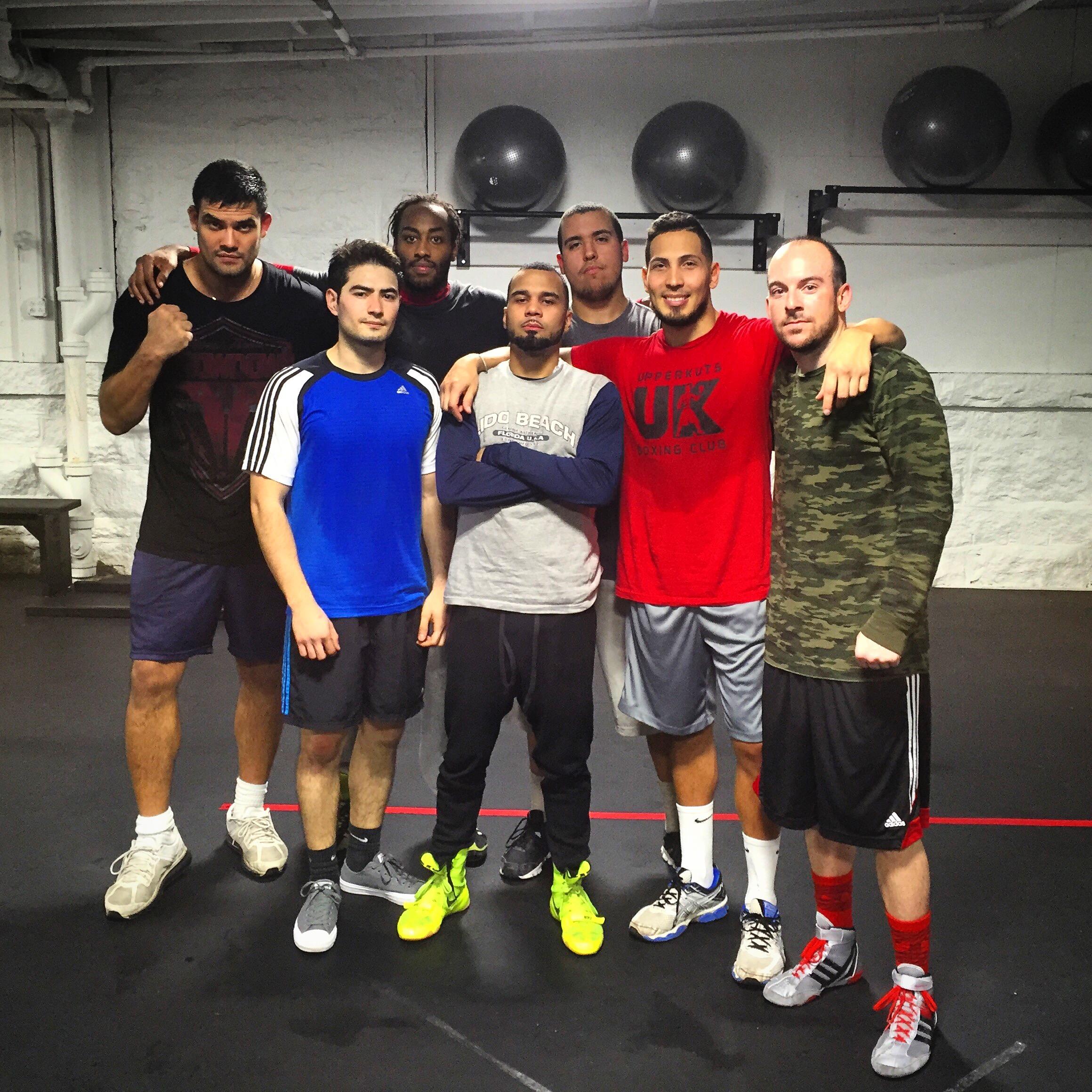 boxing club members
