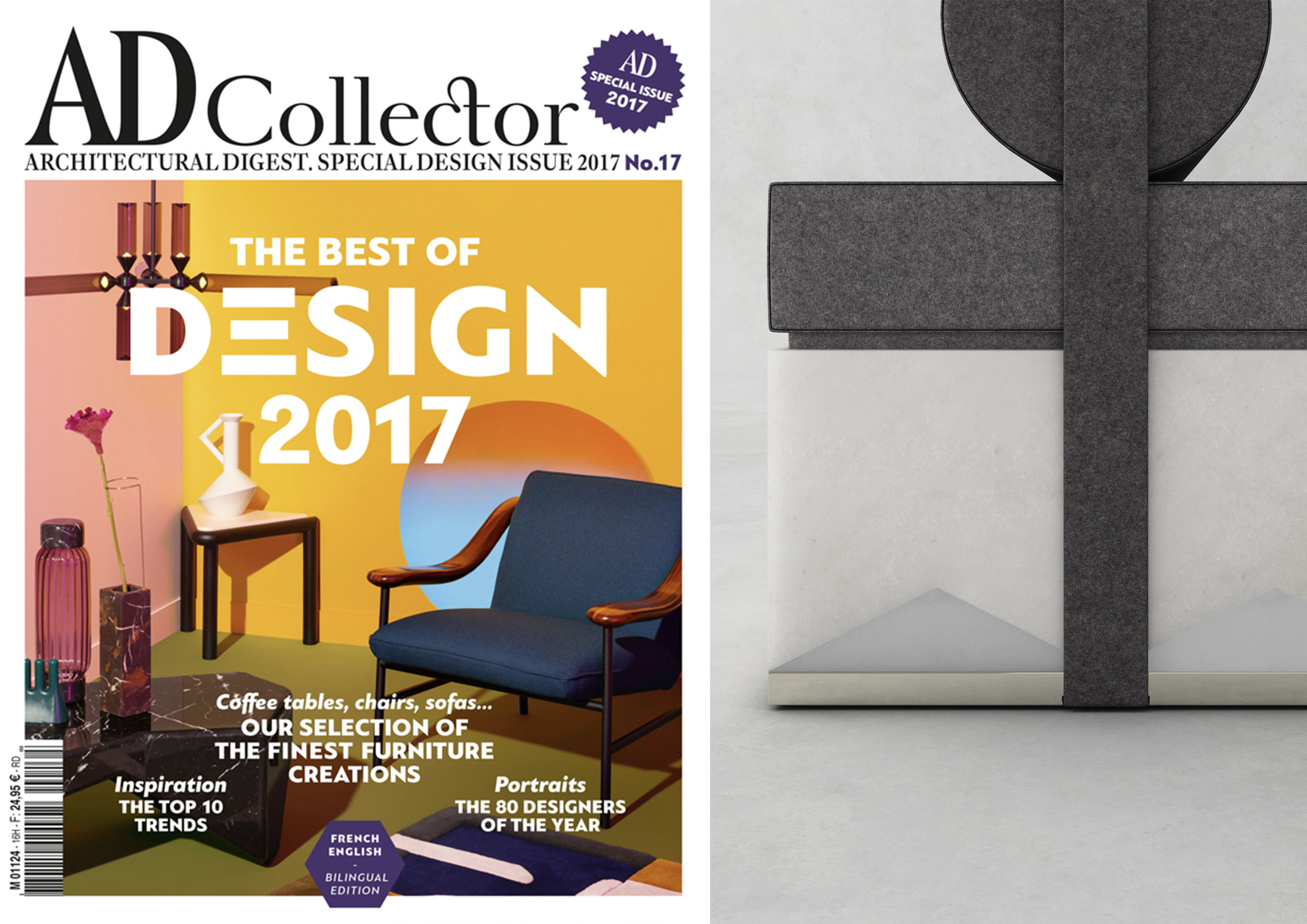 "COLLECTION NOW _ MIES MERIDIAN IN "" AD COLLECTOR 17 FRANCE "" _ SEPTEMBER 17"