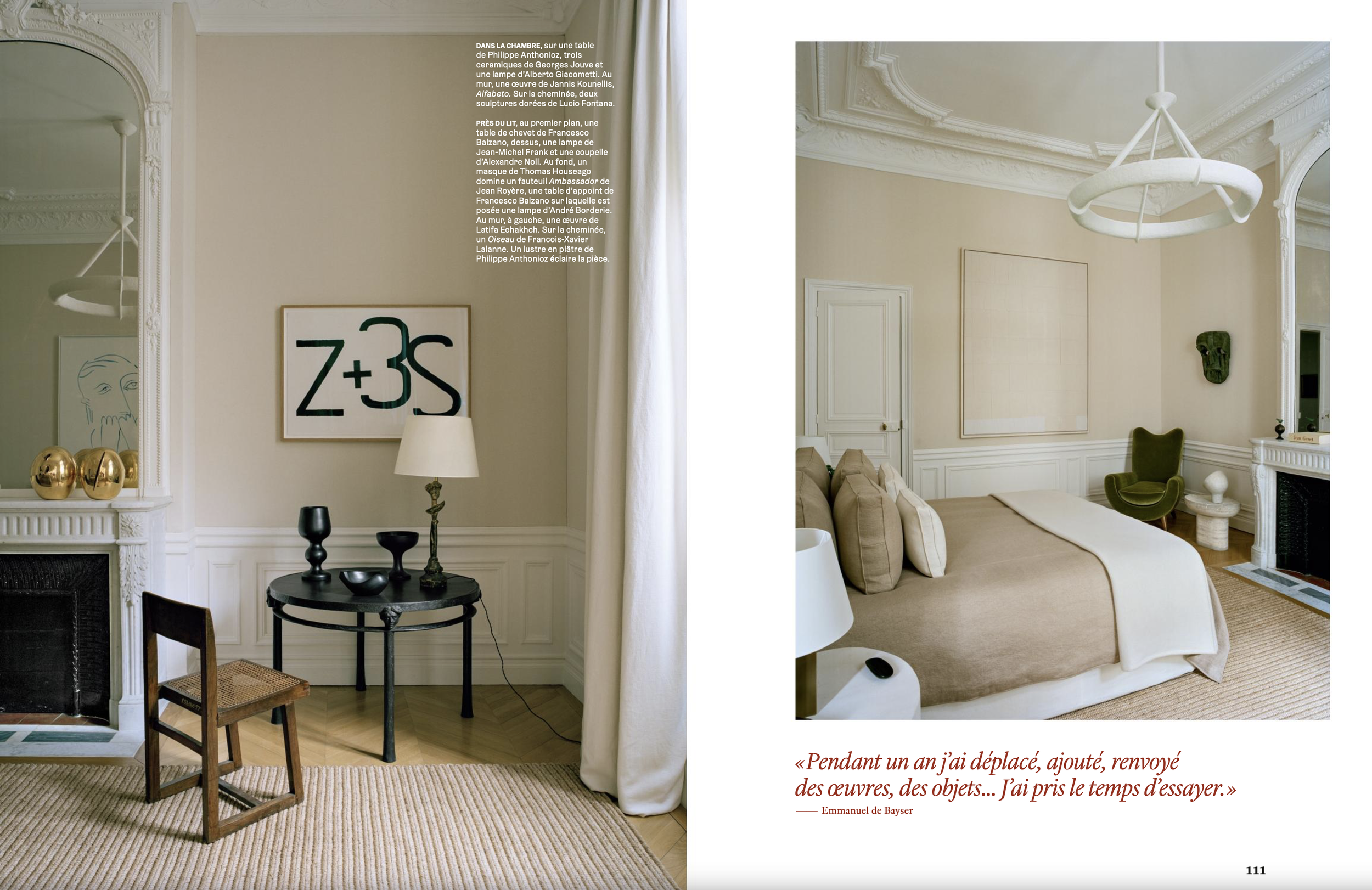AD FRANCE _ EMMANUEL DE BAYSER'S PARISIAN FLAT WITH CUSTOM MADE COLLECTIBLE DESIGN _ JANUARY 19