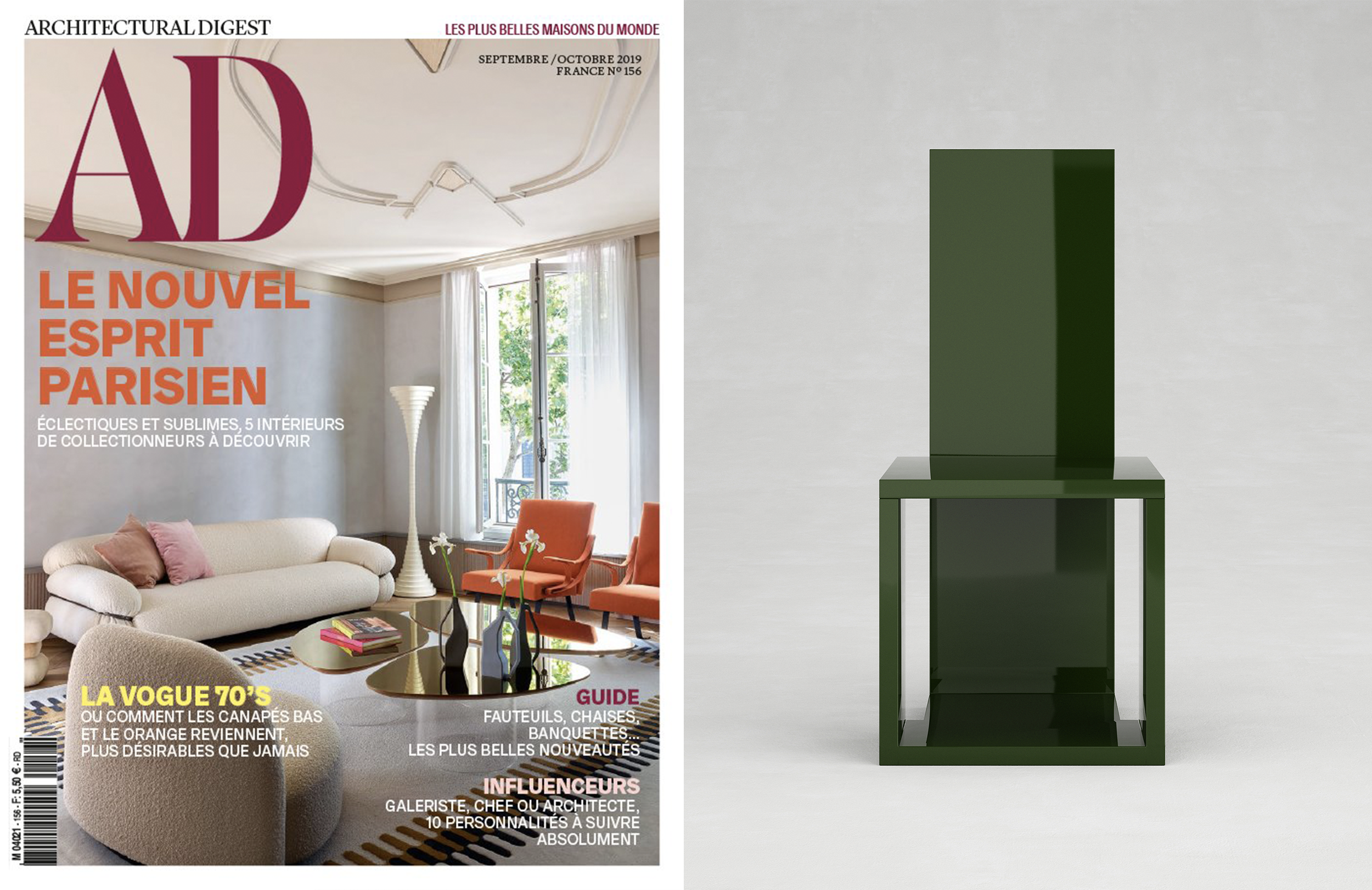 "COLLECTION QUADRATO _ Q5 CHAIR IN "" AD FRANCE "" _ SEPTEMBER 19"