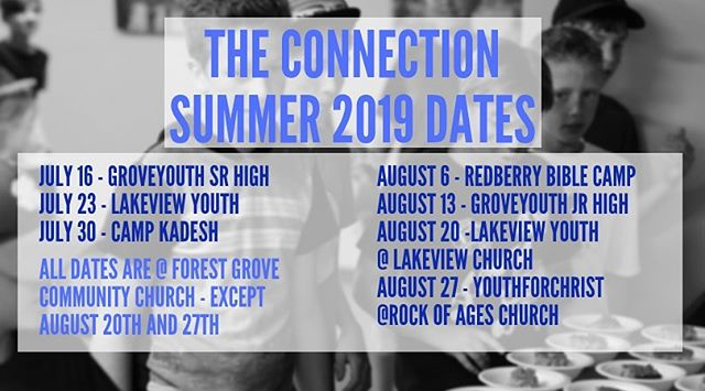 Your Summer 2019 dates are here.