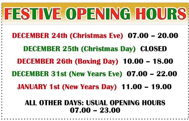 Our festive opening hours!! #margiotta #edinburgh #christmas #shoplocal