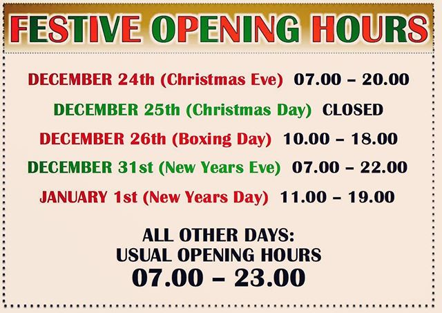 Tis that time of year again! Here's our festive opening hours! #edinburgh #local