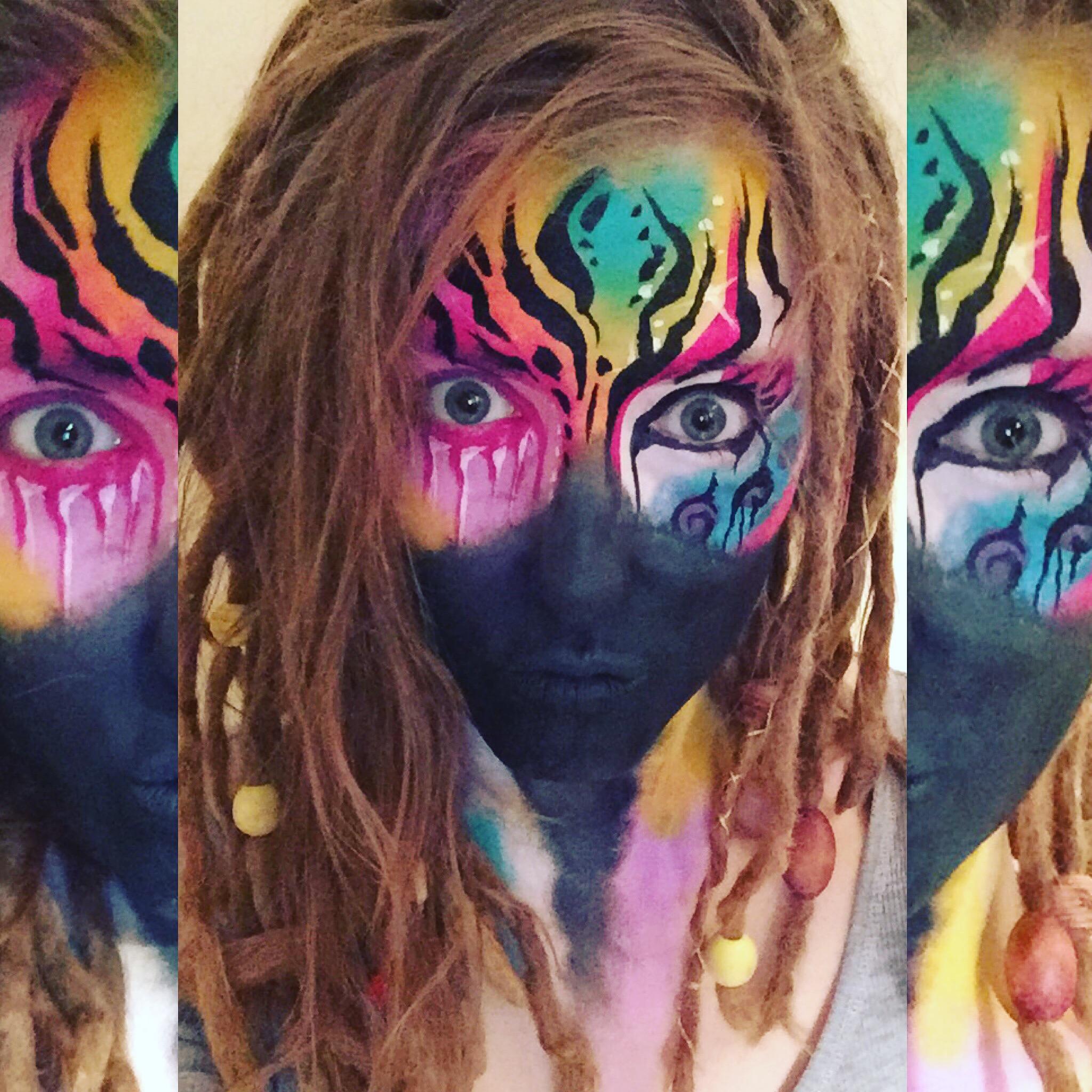 Abstract Face Art Piece