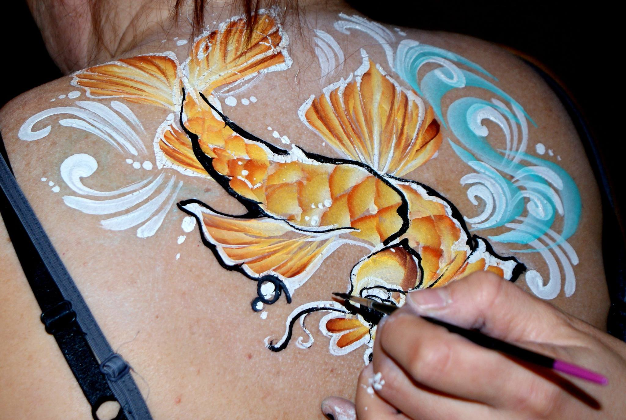 Body Paint at a jam session