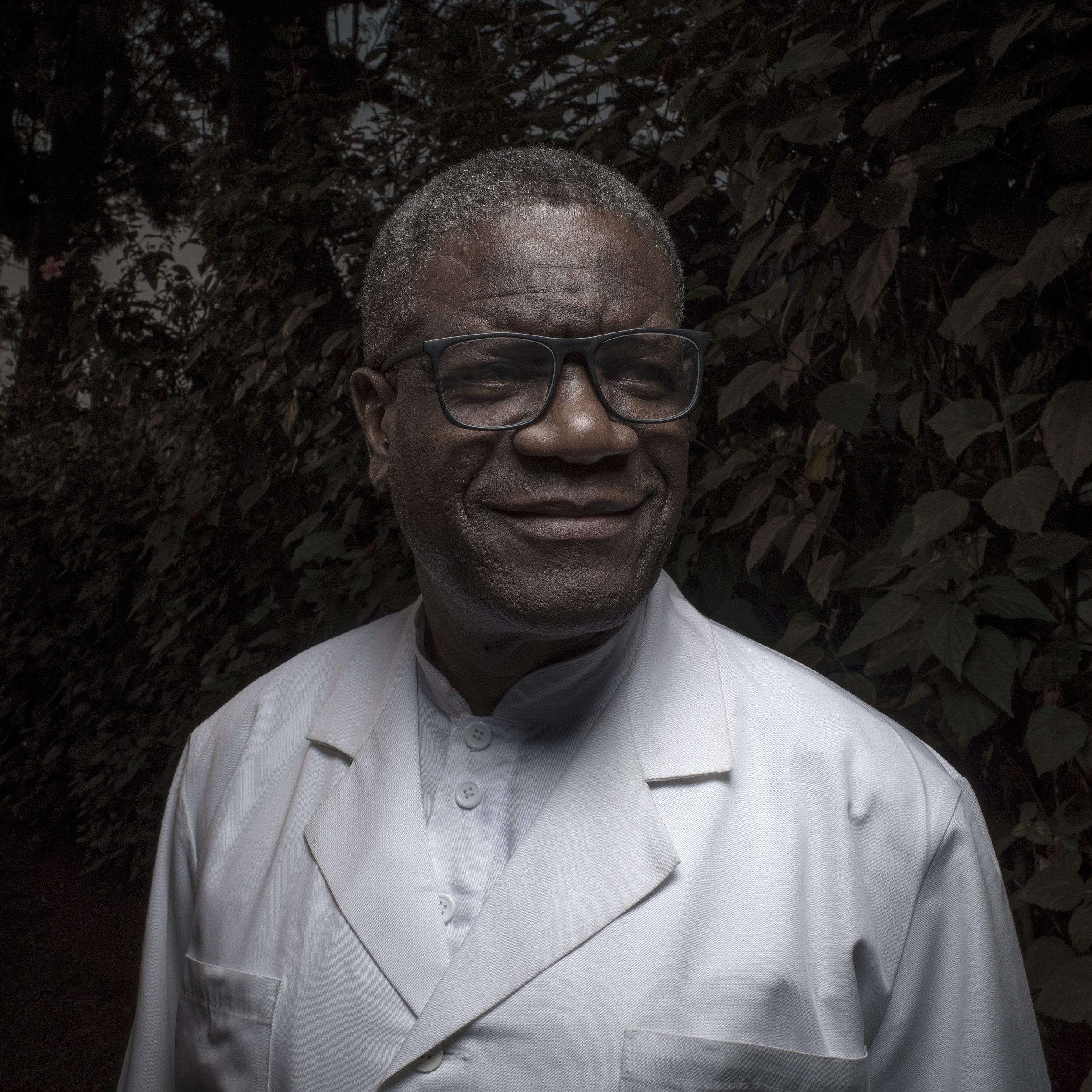 Portrait of Dr. Mukwege by Josh Estey