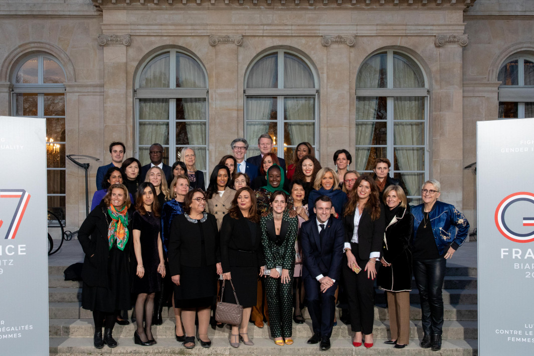 Dr. Mukwege with fellow members of the G7 Gender Equality Advisory Council   (Photo credit: G7 France)