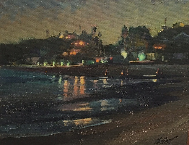 "Grunion Run, Crystal Cove  - 8""x 10"""