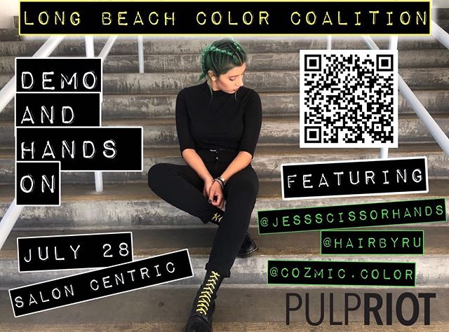 HAPPY SUNDAY! Here's your friendly reminder that this class is happening and it's going to be tons of fun! Let's create and learn together! 🖤🖤 #pulpriothair #education #haireducation #longbeachhairstylist #creativecolorclass