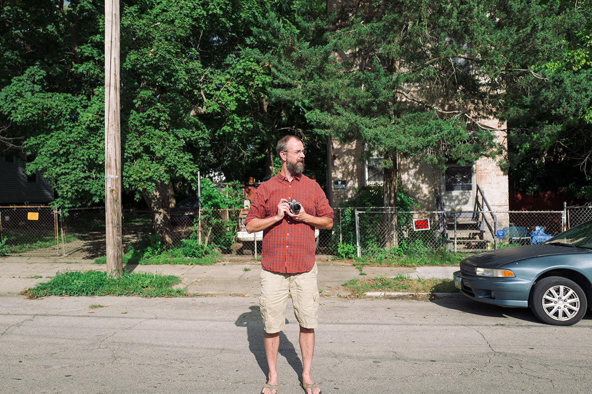 Chris explores his home of Northside with a camera.  Photo by Casey Wadlow