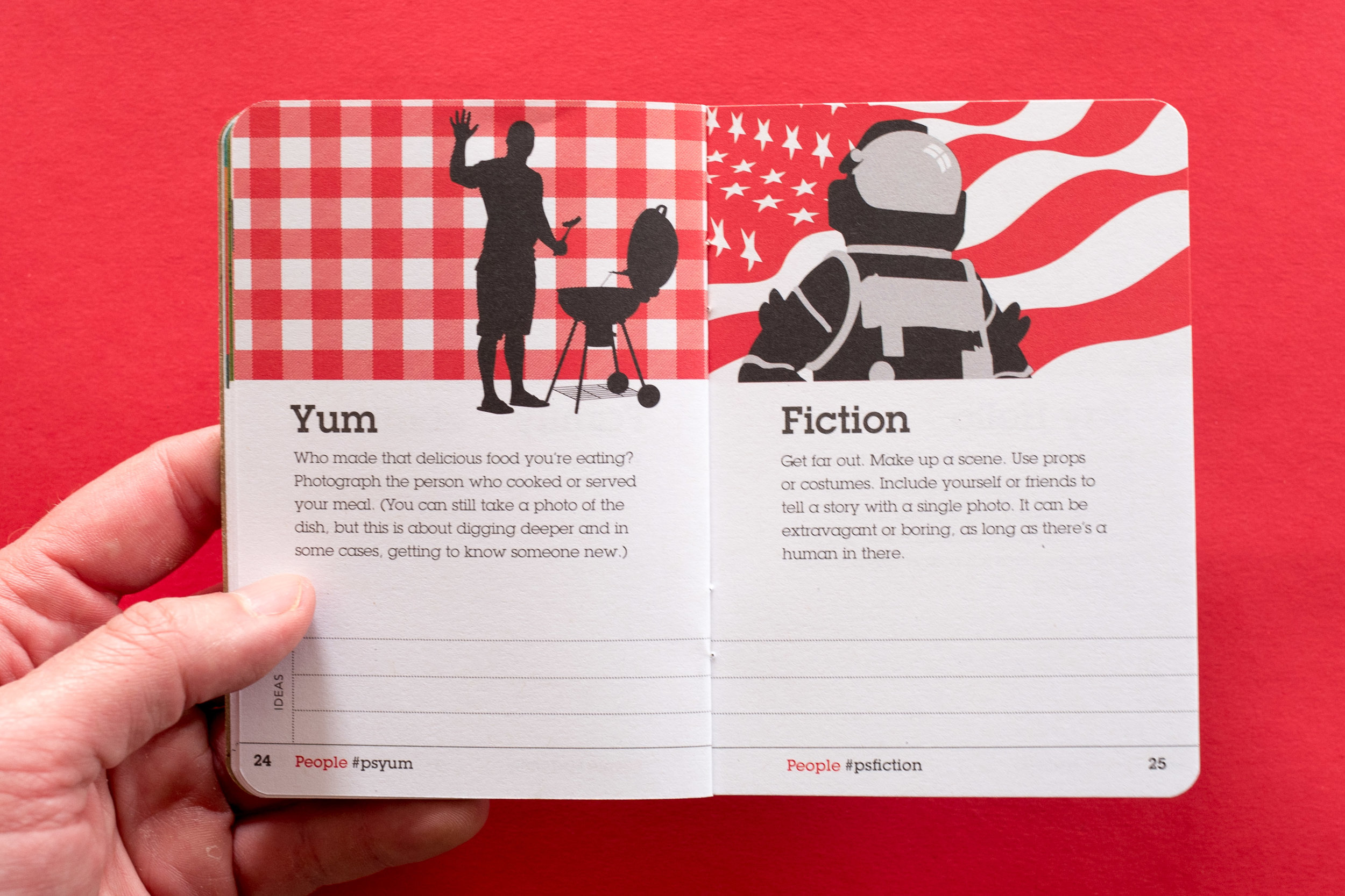 A spread from the  People  section of the PhotoScouting Guidebook   Design & Photo by Chris Glass
