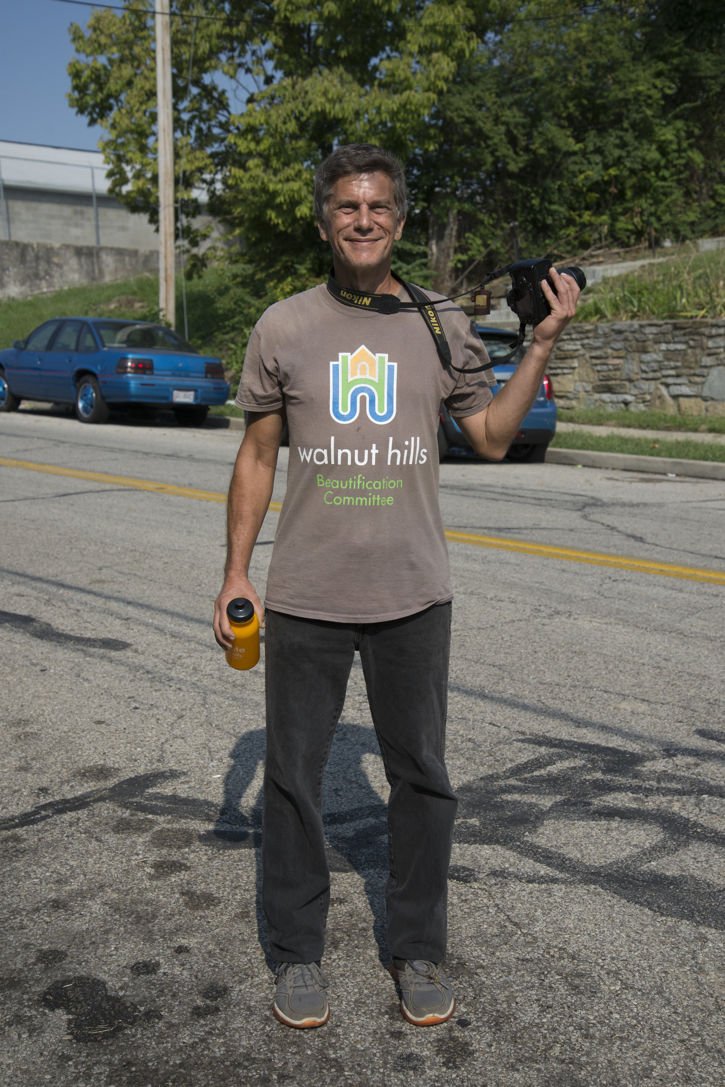 Gary Dangel on the Walnut Hills Photowalk Photo by Maureen France