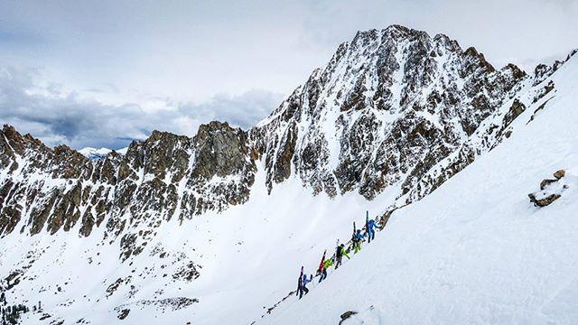 The old #IdahoElevator || Gavin McClurg (@gavinmcclurg) & Marc Hanselman (@pro.alpine) amidst an 8 day ski traverse in the Boulder Whiteclouds Wilderness. 📷 - @wyattncaldwell