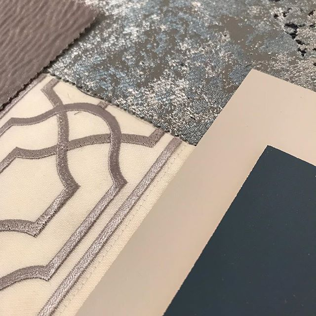 Busy day with a new project. Today's trio is a sneaky preview of how the scheme is coming together #samples #newproject #moodboard #interiors #interiordesign #interiordesigner #yorkshiredesigner #guestbedroom #cosyinteriors #trimmings