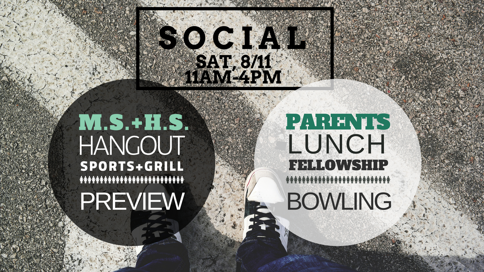 sign-up HERE - This is a fun, two-fold event coming up!Middle and High Schoolers come hang out together for a pool party, sports, grill and preview what's to come in Sunday School!Parents, drop off the kids and then go on your own outing including lunch in Fredericksburg and bowling. This is a great opportunity to get to know each other, discuss parenting a teen and just have fun together!When: Saturday, August 11th from 11am-4pmWhere: Stafford (carpool can be arranged)RSVP:Thursday, August 9th