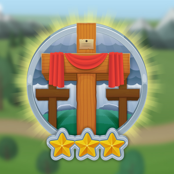 IT IS FINISHED - Jesus gave us exactly what we needed. He showed love for EVERYONE when He died for EVERYONE'S sins on the cross. Three days later, He came back to life! When we choose to follow Jesus, He takes the sin right out of our hearts, so we can love others the way He loves us.Download Bible App for Kids so you can check out these stories with your kids. They can follow along in the story and have fun bringing the characters to life. Also, check out the Adventure Book we send home with your kids each week so you can help them review the verse and the question and answer that we hope they learn each week.