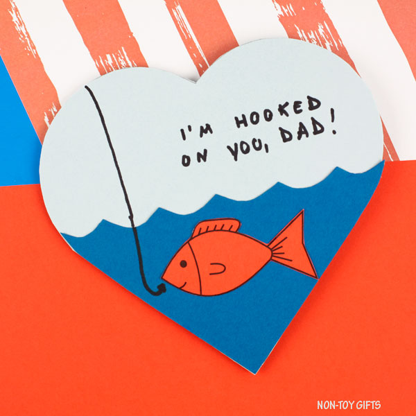 FATHER'S DAY CARDS - Check out Non-Toy Gifts' easy crafts to make your own Father's Day Card. It's coming up soon on June 16!