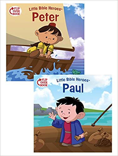 Peter/paul flip-over book - What could be better than a great hero story? TWO great hero stories! And there's no better place to find them than the Bible. Each Little Bible Heroes™ Flip-Over Book offers two stories of bravery, faithfulness, and kindness—straight from the Bible and perfect for little hero-loving hearts!